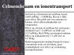 celmembr aam en ionentransport