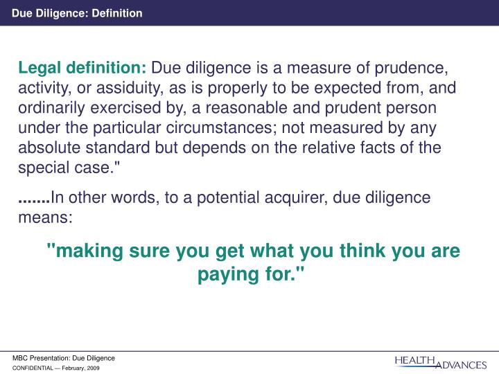 PPT - Due Diligence: The Unsung Hero in the Deal Process PowerPoint ...