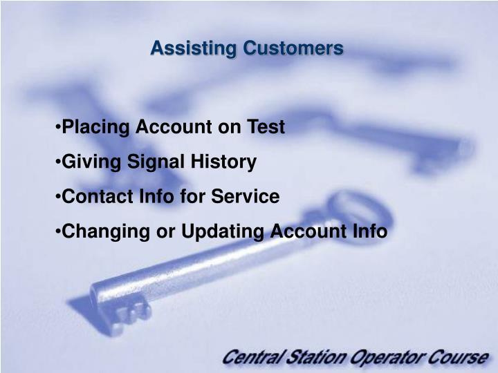 Assisting Customers