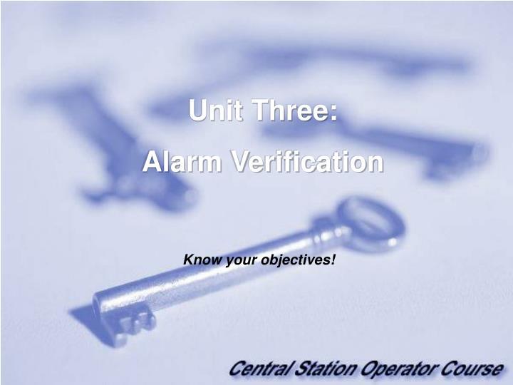Unit Three:
