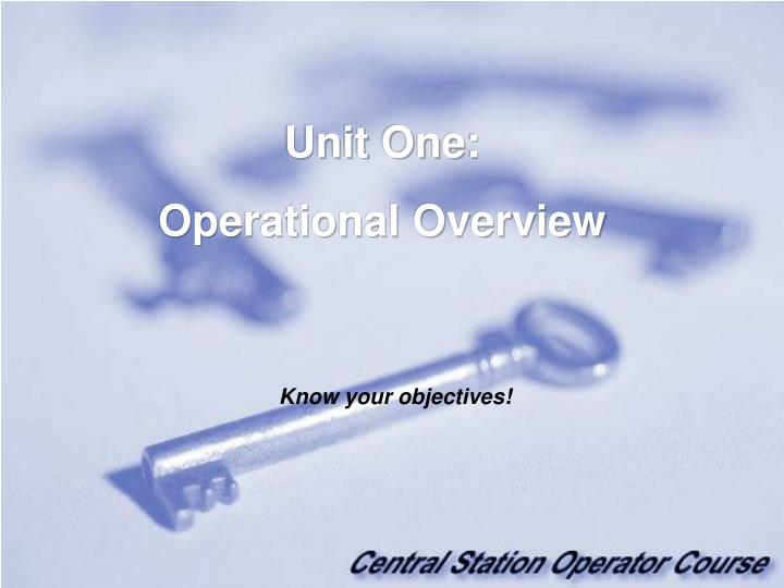 Unit One: