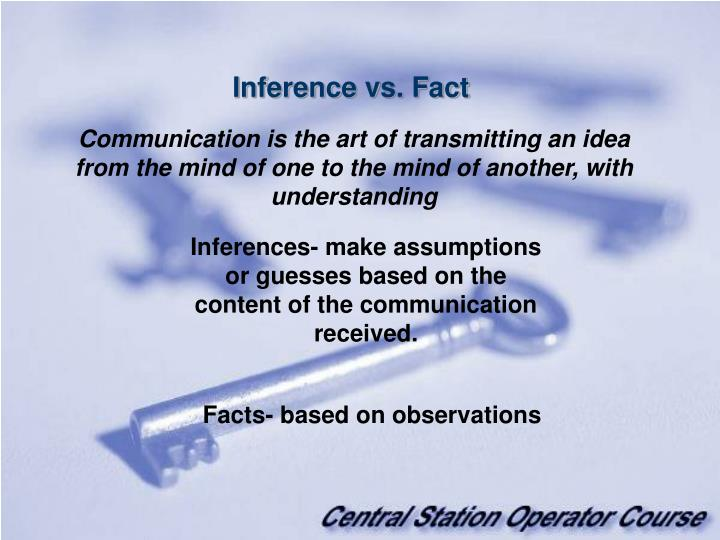 Inference vs. Fact