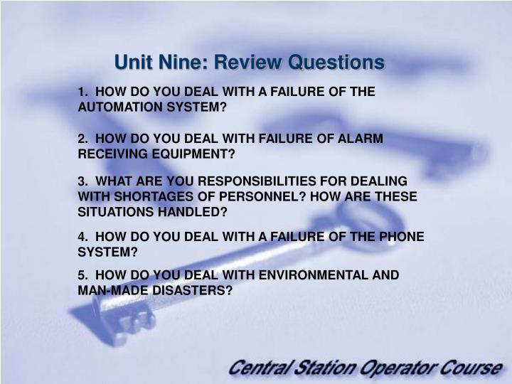 Unit Nine: Review Questions