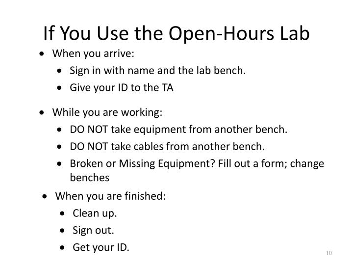 If You Use the Open-Hours Lab