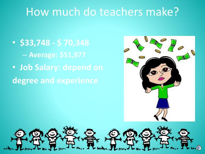 How much do teachers make?