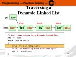 traversing a dynamic linked list3