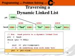 traversing a dynamic linked list4