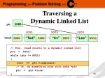 traversing a dynamic linked list9