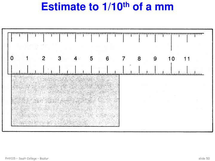 Estimate to 1/10