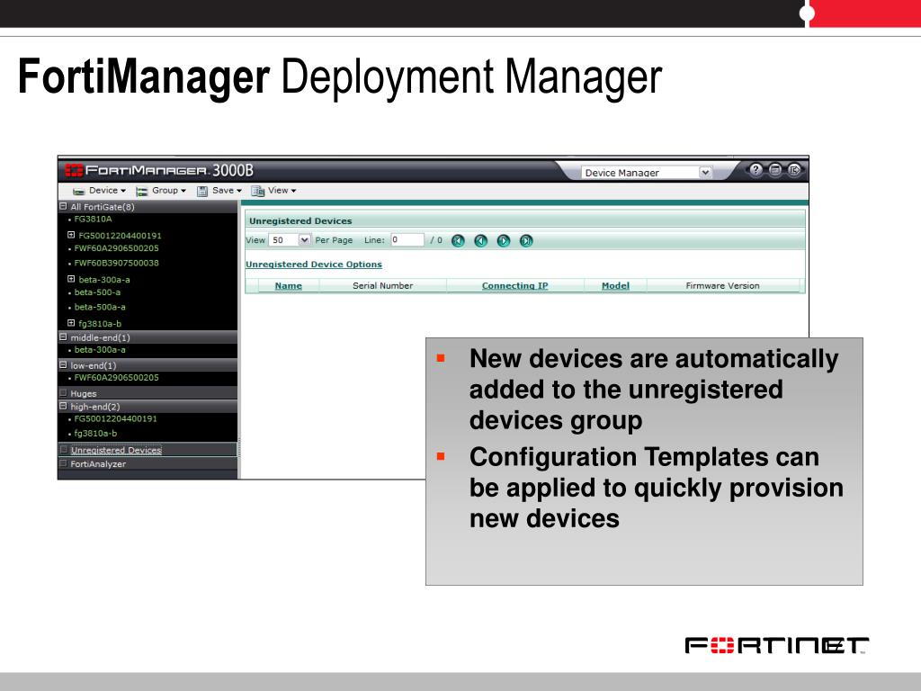 Enable fortianalyzer in fortimanager
