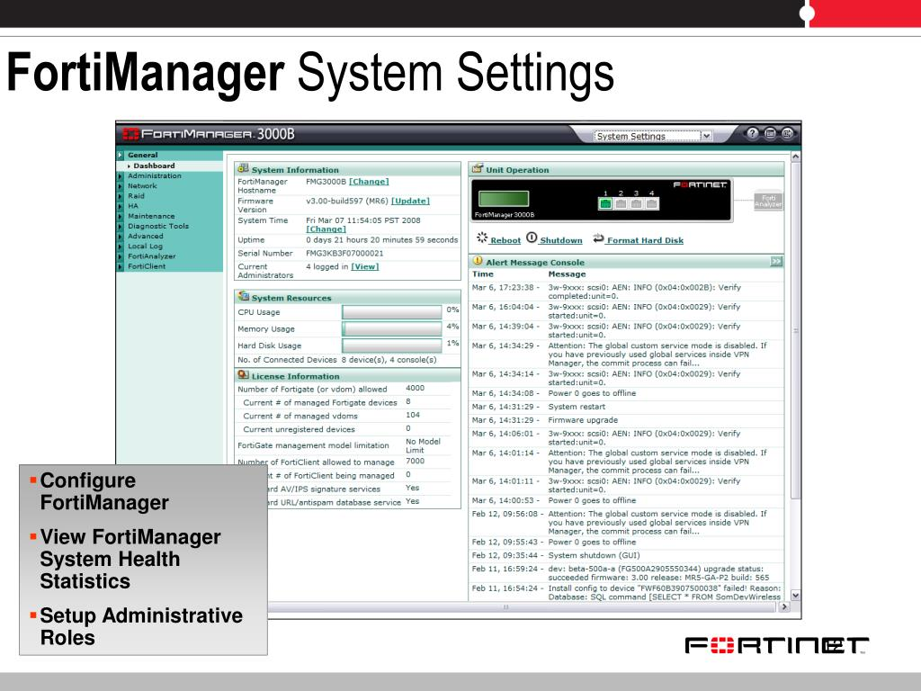 PPT - FortiManager PowerPoint Presentation - ID:6433390