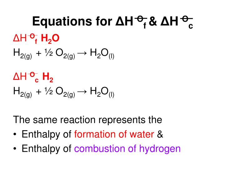 Equations for