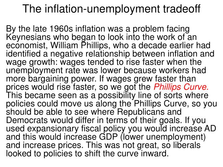 The inflation-unemployment tradeoff