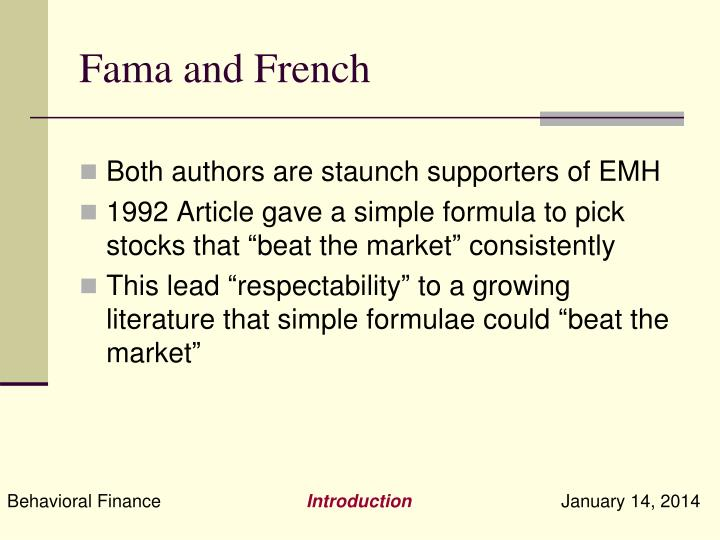 Fama and French