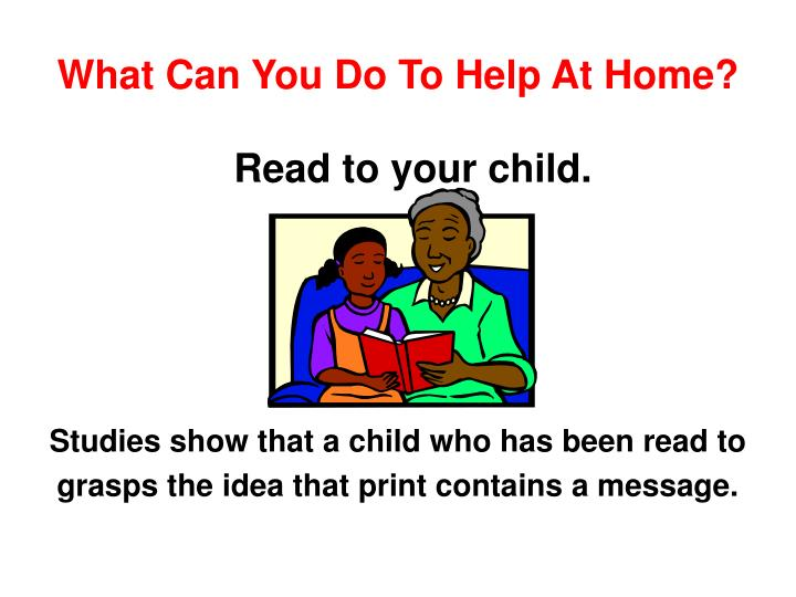 What can you do to help at home