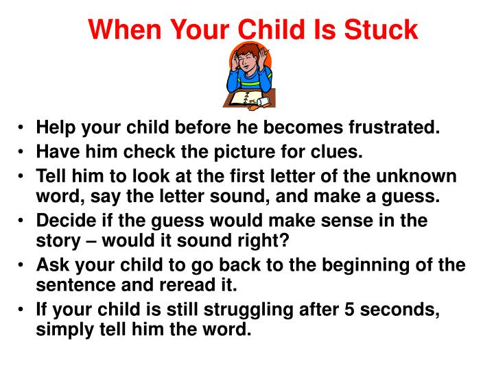 When Your Child Is Stuck