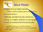 more pitfalls