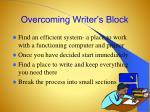 overcoming writer s block