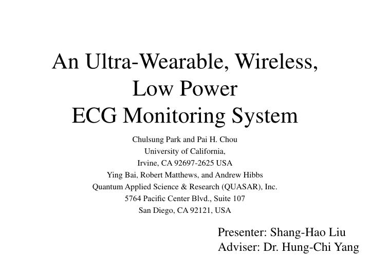 ppt - an ultra-wearable, wireless, low power ecg monitoring system, Powerpoint templates