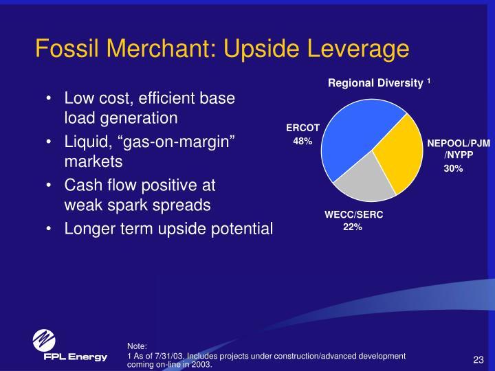 Fossil Merchant: Upside Leverage