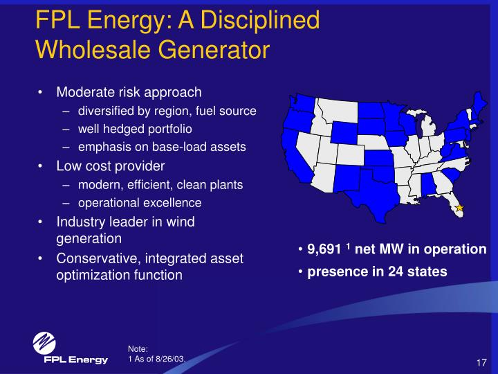 FPL Energy: A Disciplined