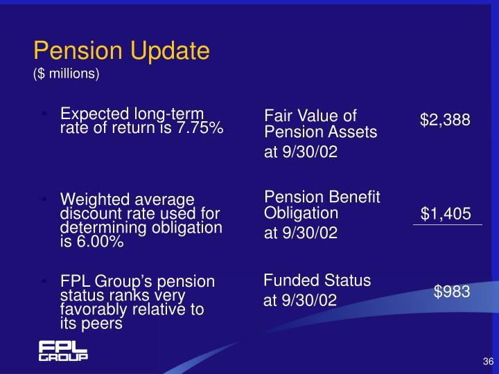 Pension Update