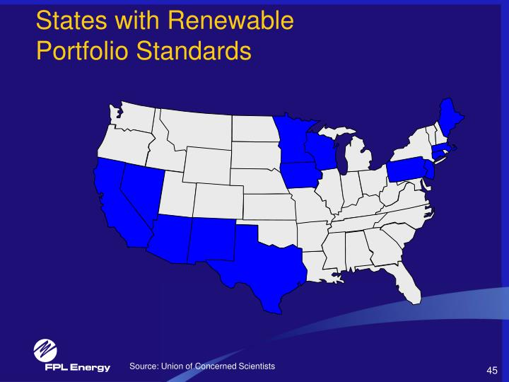 States with Renewable