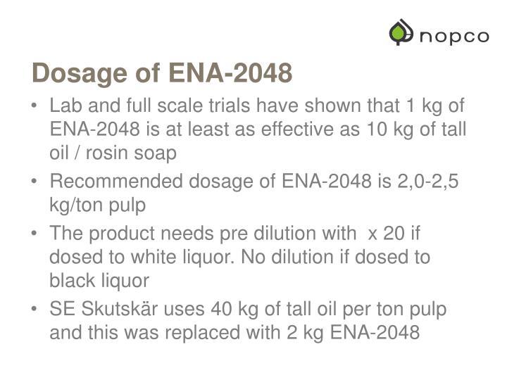 Dosage of ENA-2048