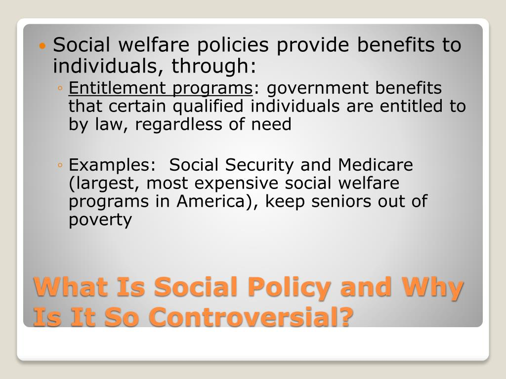 PPT - Social Welfare Policymaking PowerPoint Presentation