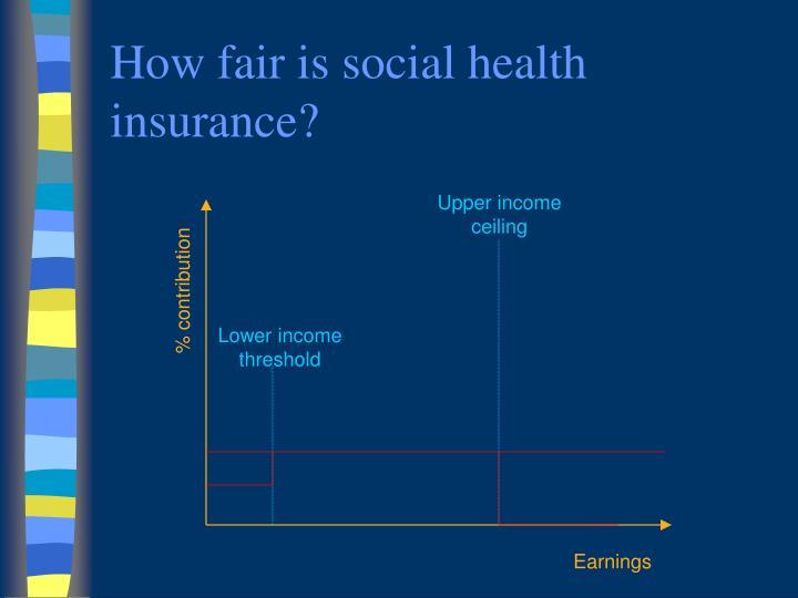 How fair is social health insurance?
