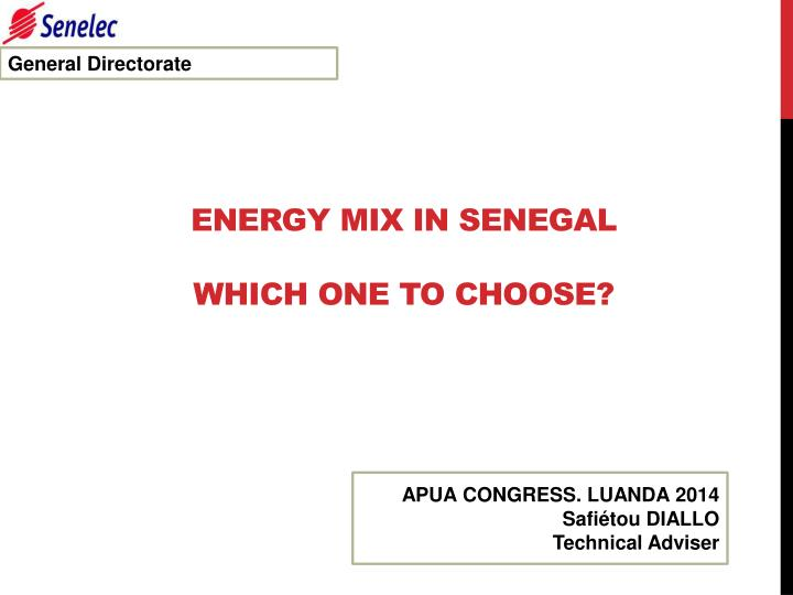 energy mix in senegal which one to choose