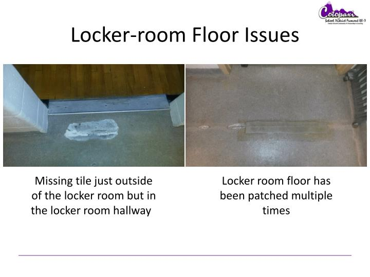 Locker-room Floor Issues