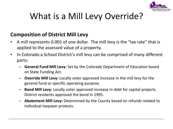 What is a mill levy override