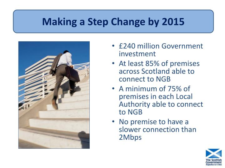 Making a Step Change by 2015