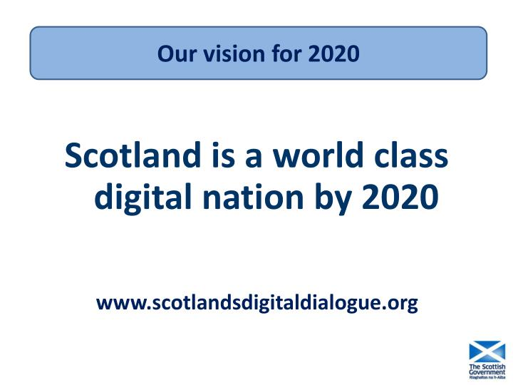 Our vision for 2020