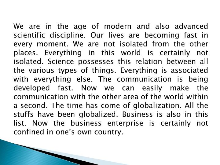 We are in the age of modern and also advanced scientific discipline. Our lives are becoming fast in ...