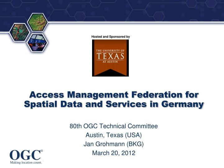 access management federation for spatial data and services in germany n.