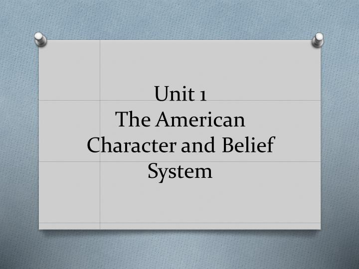 the key features of the american political belief system