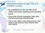 international division of labor how is it changing continued1