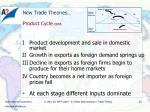 new trade theories product cycle cont