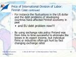 price of international division of labor finnish case continued1