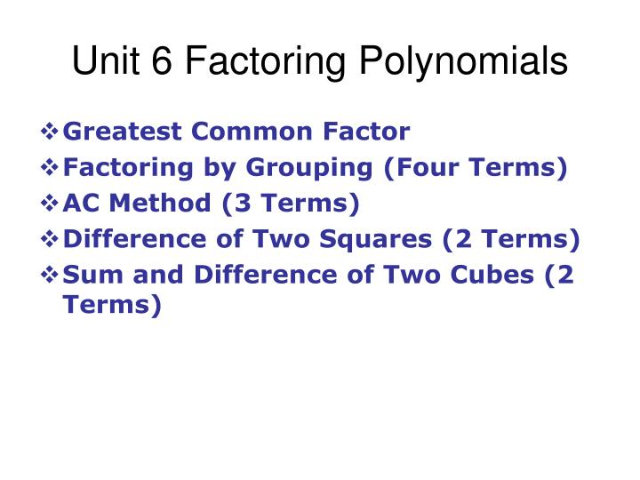 How To Factor Polynomials Cubed - Find Howtos