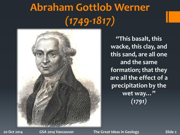 Abraham gottlob werner 1749 1817