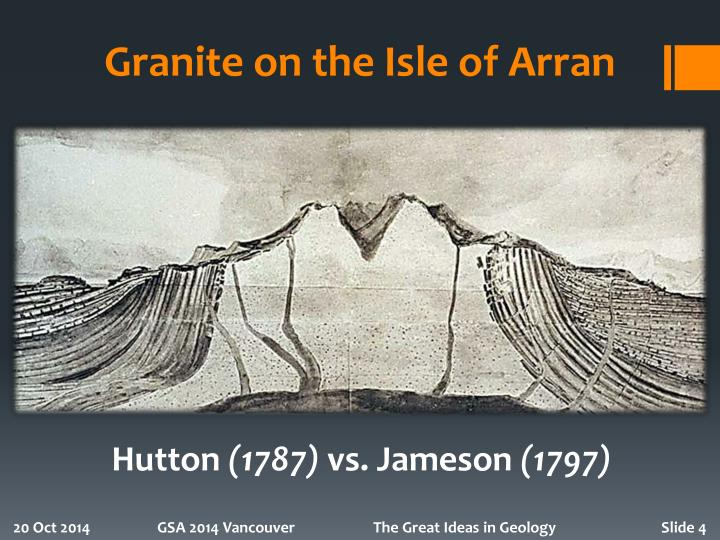 Granite on the Isle of Arran