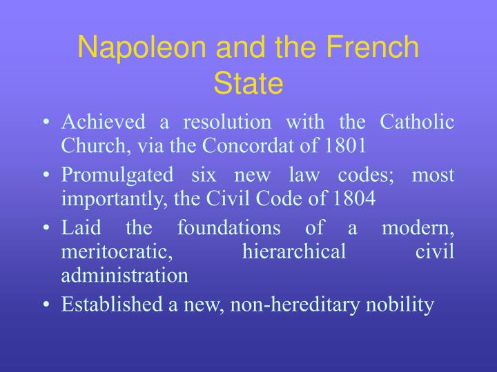 Napoleon and the French State