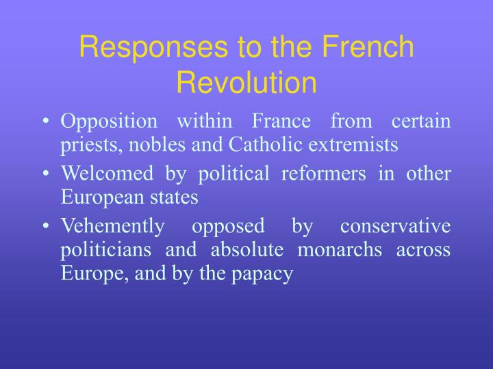 Responses to the French Revolution