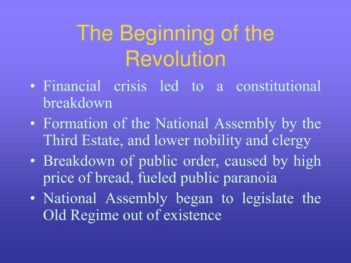 The beginning of the revolution