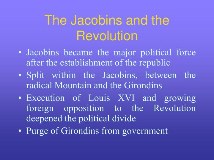 The Jacobins and the Revolution