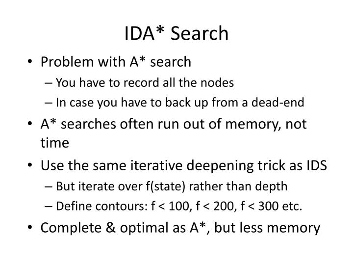 IDA* Search