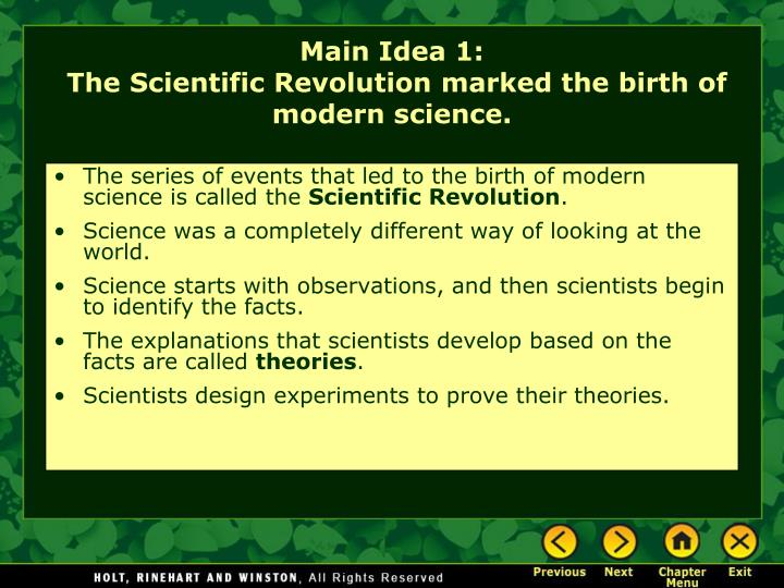 the birth of modern science Science news and science articles from new scientist.